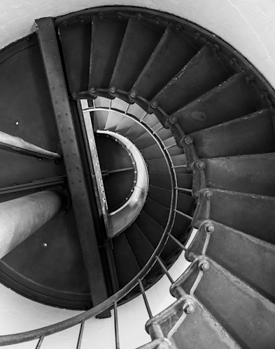 Point arena lighthouse staircase 0145 c8mbmf