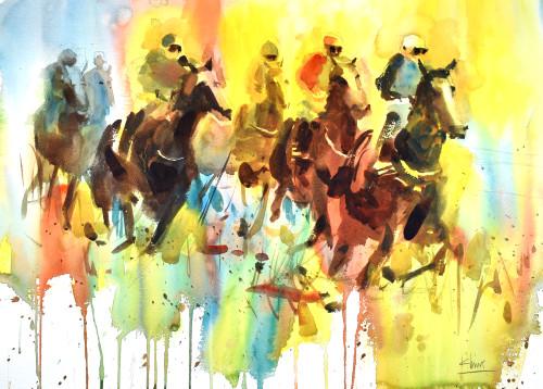 Race horses hn8aji