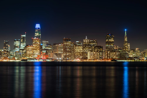 Nighttime san francisco skyline cfobxj
