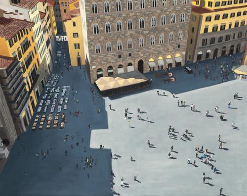 Piazza signoria florence 2020 print mj6f30