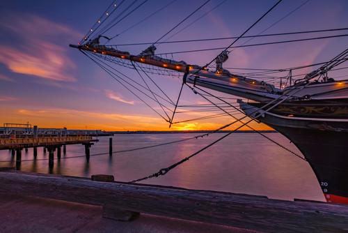 Maritime museum sunset in february gvqbtg