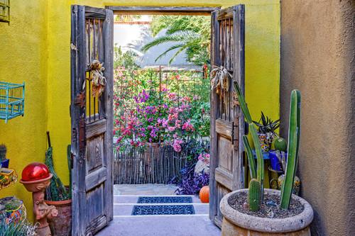 Small open courtyard with open doors tucson arizona jkwguv