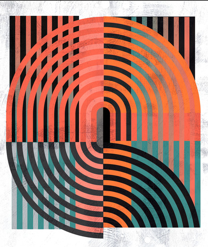 Abstract art stripes 1980s rgfn1i