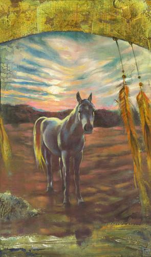 A friend at sunset final qudruu