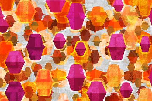 1960s abstract art orange magenta 01 mod city gallery ua7xdk