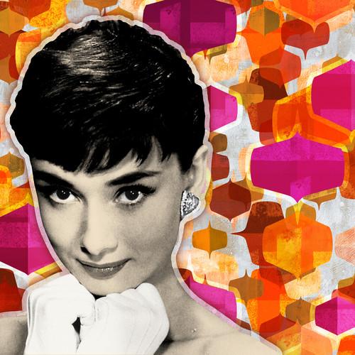 Audrey hepburn art 1960s pattern s9iiwu