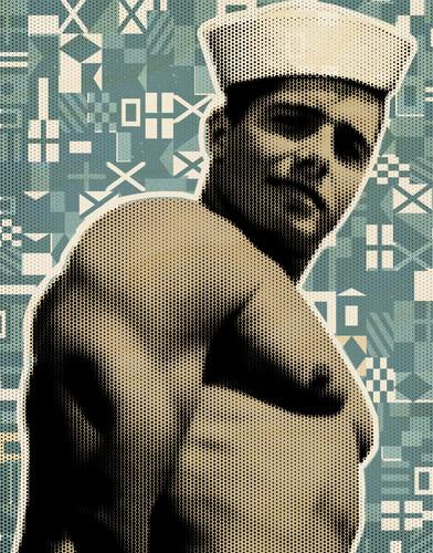 Sailor vintage retro art mod city gallery rql6y5