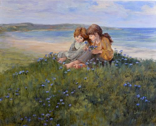 Blue flax print d610 6000 gihshr