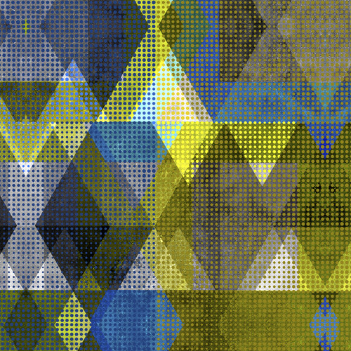 Abstract art triangles dots 1 cbeujz