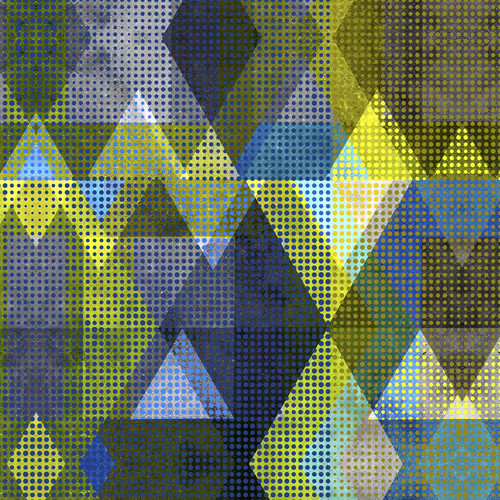 Abstract art triangles dots 2 uclkle
