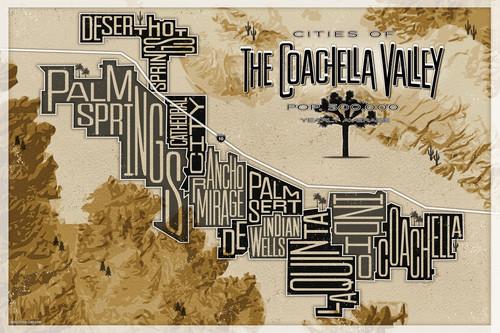 Coachella valley map art mod city gallery ahtl03