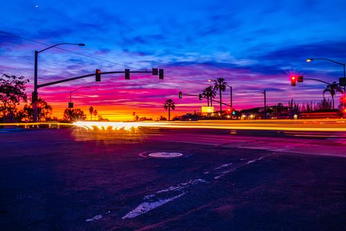 Normal street university heights cars passing sunset light streaks 2 ym2x1d