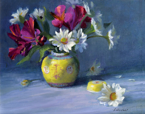 Daisies and chinese bowl print d610 6000 t927uo