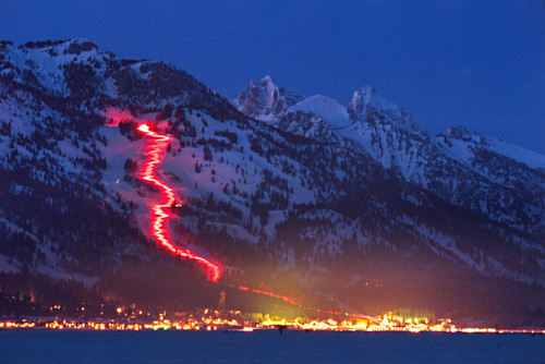 Torchlight parade jackson hole mountain resort teton village qspo3i