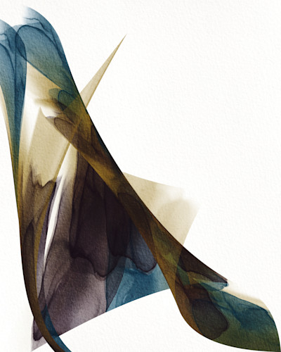 Number 12 together abstract ink teal brown ochlak