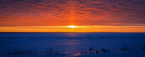Lake huron sunrise wijddw