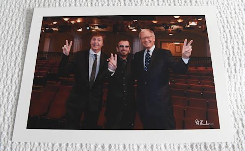 Paul ringo dave letterman 15x10 art paper zaxmnq