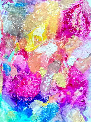 Magenta and peach with turquoise palette 18x24 300dpi mariestephensart mg 3338 iwn2yx