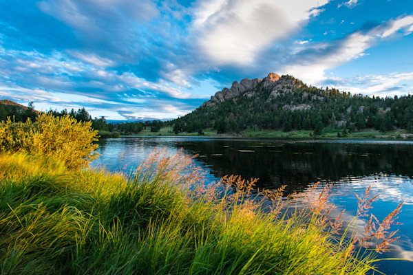 Colorado Art Photography Prints Of Morning At Lily Lake In The Rocky Mountains By James Frank