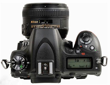 Nikon professional D-SLR 750 body top view