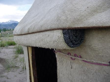 Yurt made of felted fabric