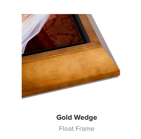 Gold Wedge Wood Float Frame