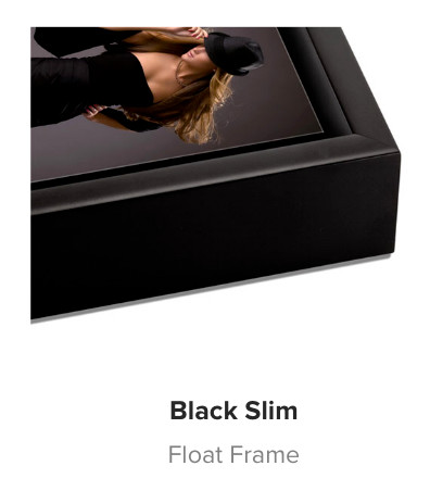 Black Slim Wedge Wood Float Frame