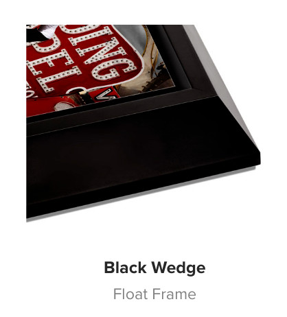 Black Wedge Wood Float Frame