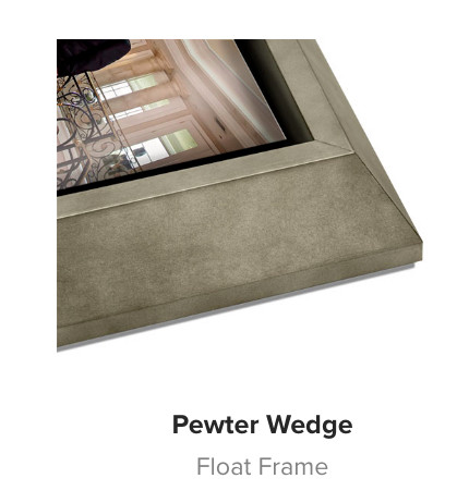 Pewter Wedge Wood Float Frame