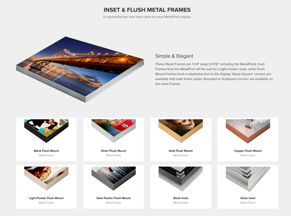 Flush Mount Metal Frames