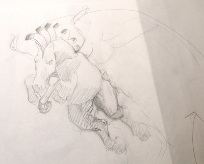 Mesa Pegasus works in progress sketch