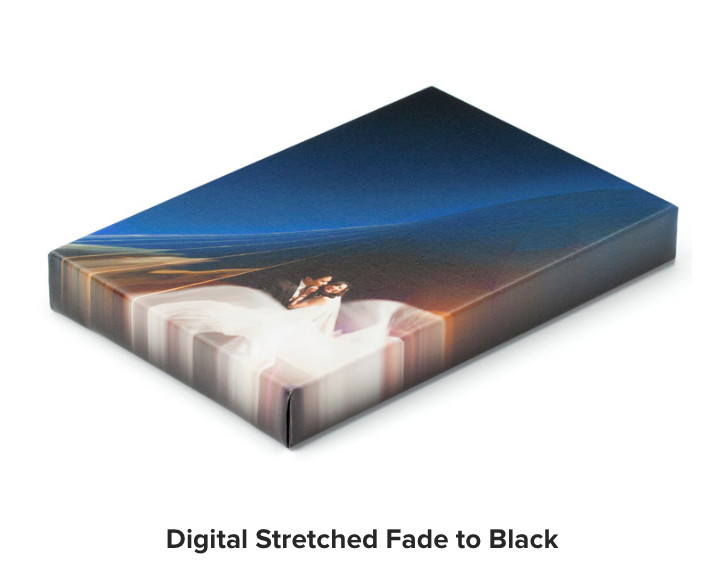 Canvas Digital Stretch to Black