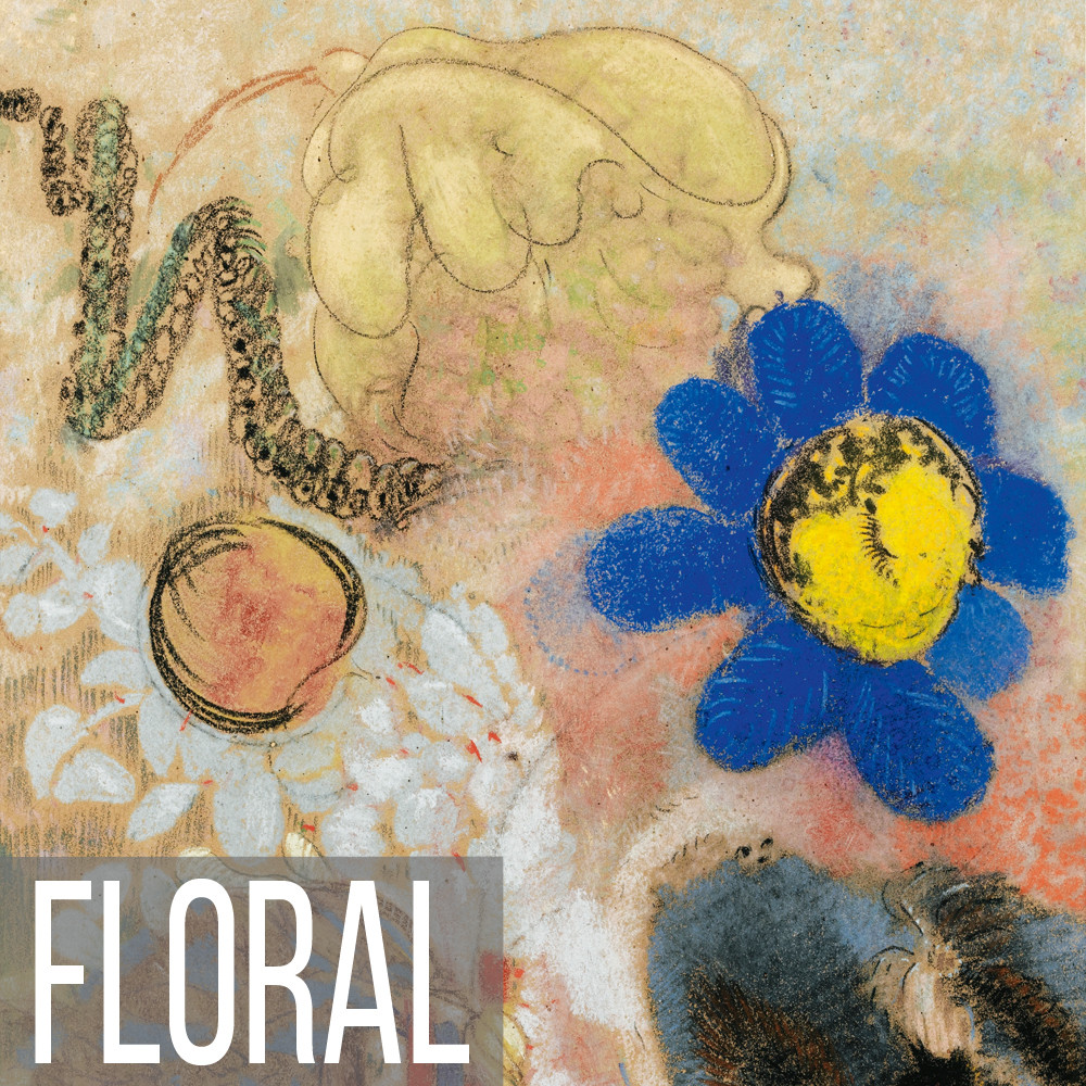 Abstract Floral painting collection.