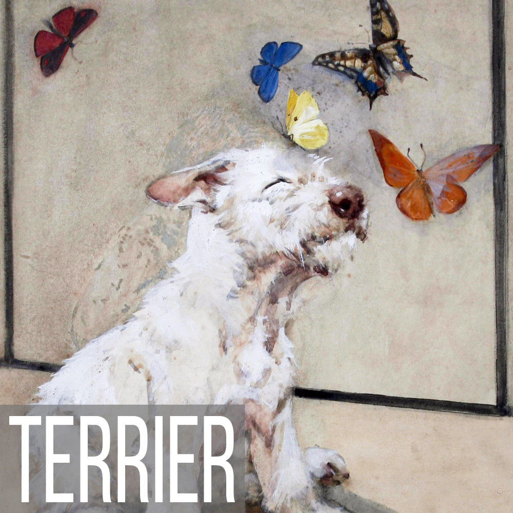 Terrier art print reproductions