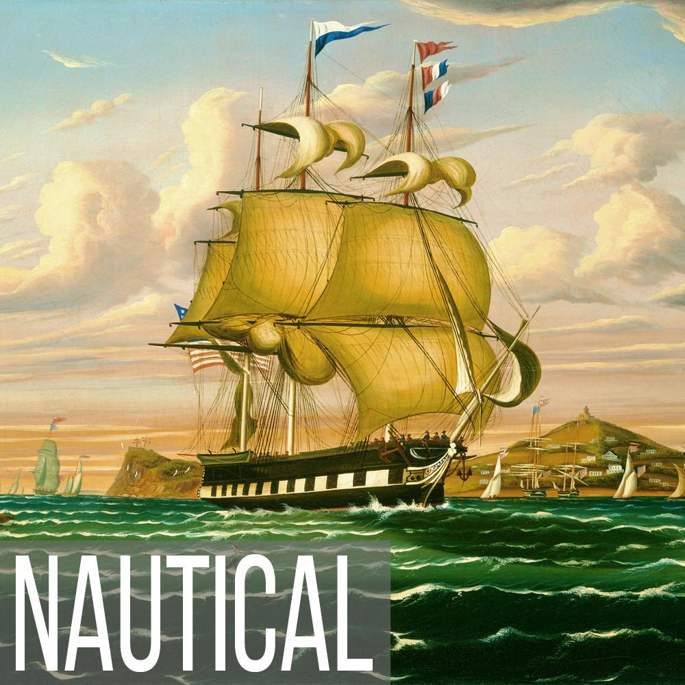 Folk Art Nautical art print reproductions