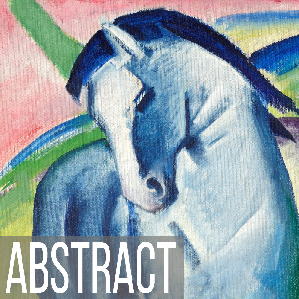 Abstract Horse Art print reproductions