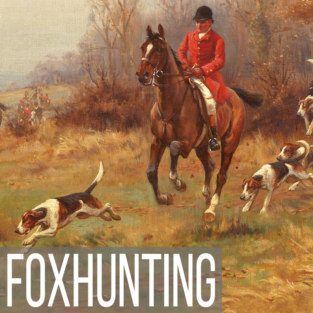 Foxhunting painting reproduction prints