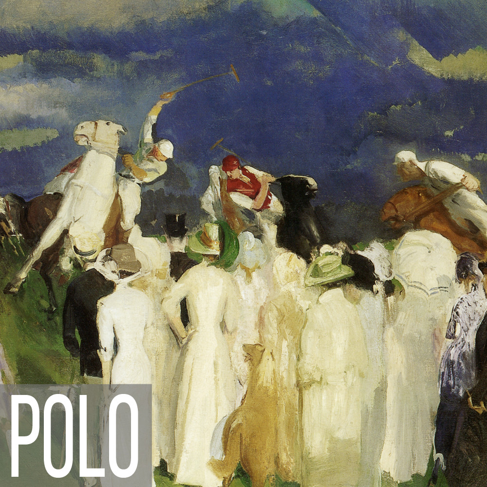 Polo sport art print reproductions