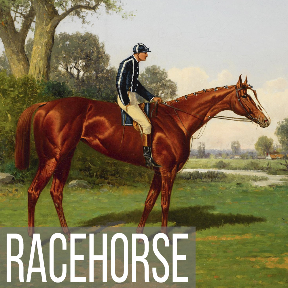 Horse Racing & Racehorse art print reproductions