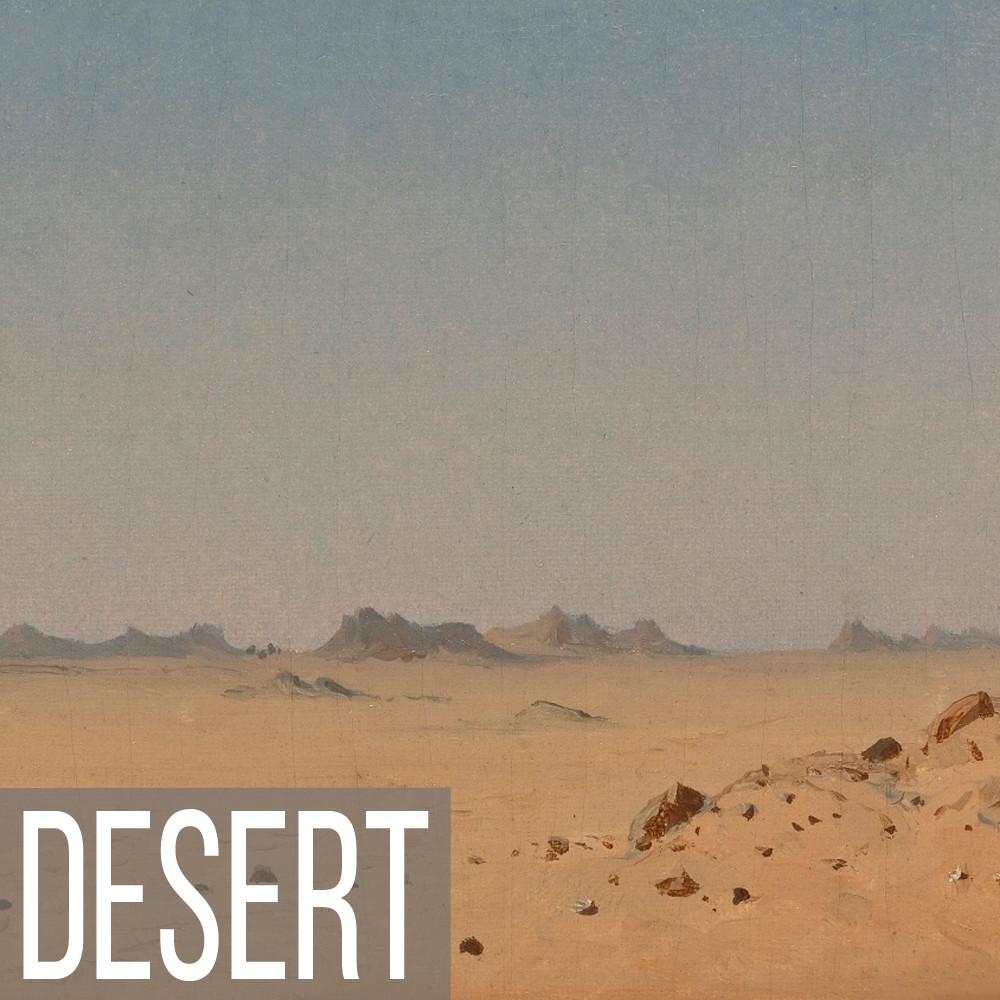 Desert landscape art print reproductions