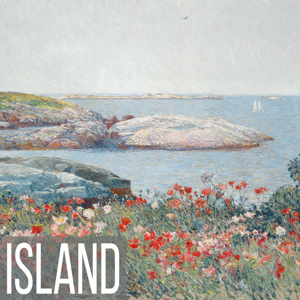 Island landscape art print reproductions