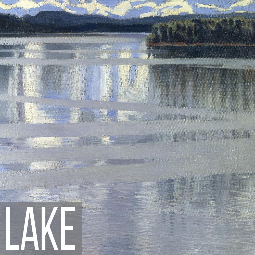 Lake landscape art print reproductions