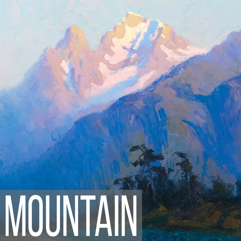 Mountain landscape art print reproductions