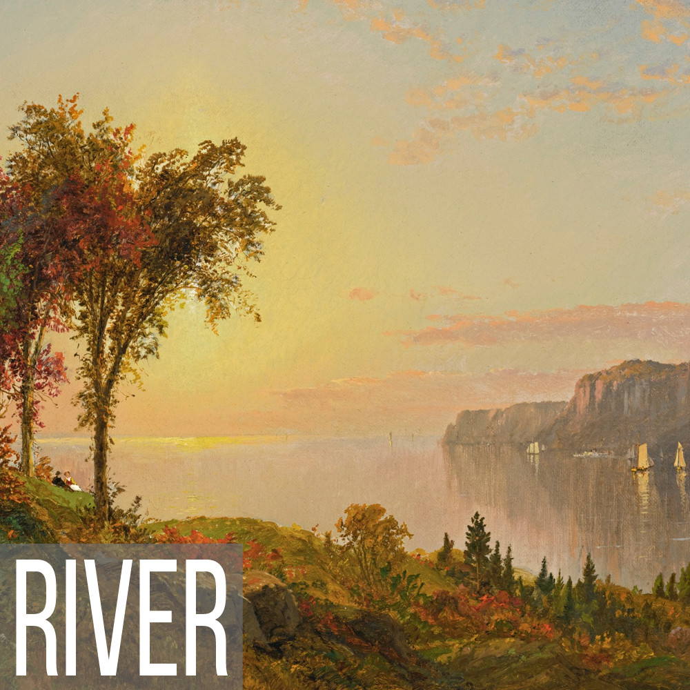 River landscape art print reproductions