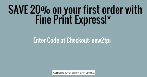 20% off your first order, using code NEW2FPI at Checkout