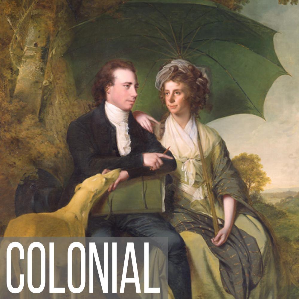 Colonial portrait art print reproductions