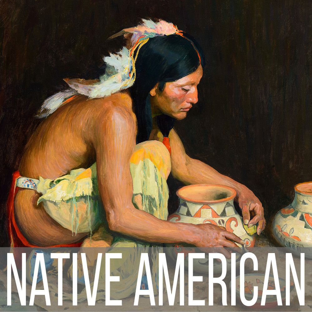 Native American or American Indian art print reproductions