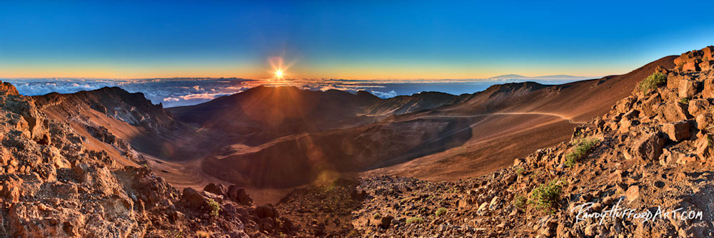 """""""Speak Life"""" Sunrise Haleakala Crater"""