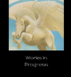 Detail of pegasus in works in progress