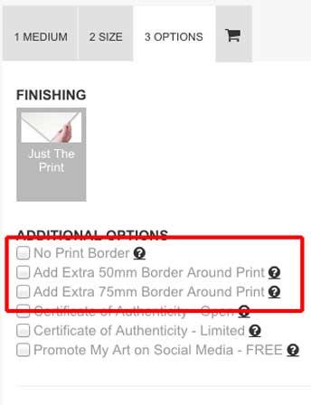 extra border print option